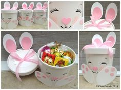 Easter idea: surprise bunny - Diy and Crafts Mix Easter Egg Crafts, Bunny Crafts, Easter Bunny, Cute Diy Projects, Easter Projects, Kids Crafts, Diy And Crafts, Diy Spring Wreath, Bunny Party