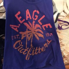 Purple Tank Top Cute Purple Tank Top worn only once and in great condition. American Eagle Outfitters Tops Tank Tops