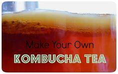 Kombucha Tea with text