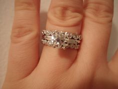Plain ring with intricate bands.
