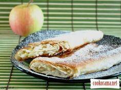 Быстрые яблочные рулеты из лаваша к завтраку
