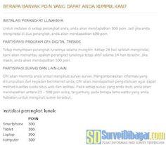 Jumlah poin yang bisa dikumpulkan anggota paid survey Gfk Indonesia | SurveiDibayar.com