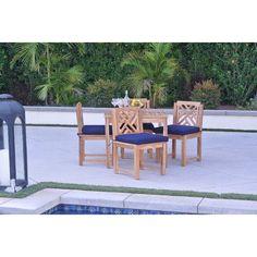 Willow Creek Designs Monterey 5 Piece Dining Set Cushion Color: Seville Seaside