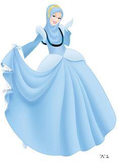 Hijab Drawing : Cinderella as a muslim - Hijab Combine Hijab Drawing, Dress Drawing, Drawing Art, Anime Girl Hot, Anime Art Girl, Muslim Girls, Muslim Women, Original Disney Princesses, Disney Princess Fashion