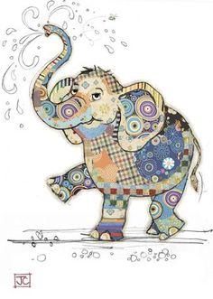 Eddie Elephant bug art greeting card Embossed with gold foil. Applique Patterns, Applique Quilts, Quilt Patterns, Quilting Ideas, Elephant Quilts Pattern, Art Quilting, Patchwork Quilting, Pintura Graffiti, Art Du Collage