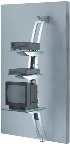 Media rack is ideal for the installation of audio and video equipment. Keep your frequently used media instantly accessible. Media Rack, Rack Design, Contemporary, Modern, Home Decor, Trendy Tree, Decoration Home, Room Decor, Home Interior Design