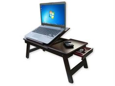 Mahogani Wooden Foldable Laptop Table Study Table - price in India : Rediff Shopping