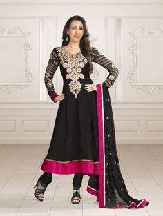 Fashion: Karishma Kapoor In Bollywood Designer Anarkali Suits