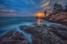 great sunset at qingdao by 512215878 Places Around The World, Around The Worlds, Qingdao, Mother Nature, Waterfall, Sunset, Architecture, Pictures, Photography