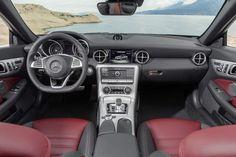 Nuevo Mercedes-Benz SLC 300, interior, bengal red/black