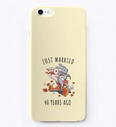 Just Married 40 Years Ago I Phone Case Light Yellow T-Shirt Front  For iPhone 6, 6 Plus, 7 and 7 Plus.  #weddinganniversarygifts #anniversarygifts #anniversary 3rd Wedding Anniversary Gift Ideas, Second Year Anniversary Gift, Iphone 6, Iphone Cases, Wedding Party Songs, Wedding Venues, Just Married, Yellow, Shirt
