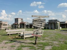 Ghost Towns in Texas | The ghost town is a mock Texan town, complete with stables, a jail, a ...