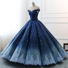 Robe de mariage : High Quality 2018 Modest Prom Dresses Ombre Royal Blue Wedding Evening Dress Gradient Blue Shade Sequin Women Formal Party Gown Bride Gown, Check more at. Princess Prom Dresses, Cute Prom Dresses, 15 Dresses, Ball Dresses, Dress Prom, Formal Dresses, Dresses Online, Gown Dress, Princess Clothes