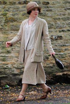 Daisy Lewis on location filming season 5.