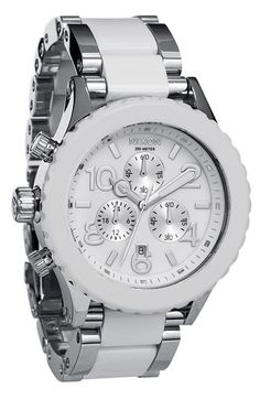 Nixon 'The 42-20 Chrono' Acetate & Stainless Steel Watch available at #Nordstrom