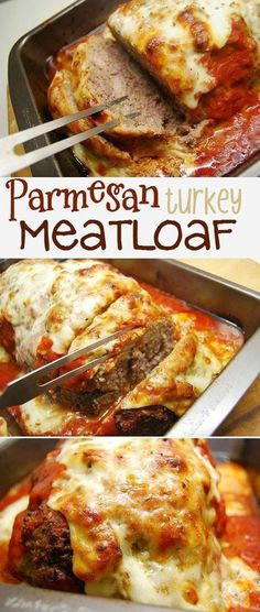 Delicious italian inspired ground turkey meatloaf Add in your favorite spaghetti sauce and lots of cheese and have a clean plate meal Parmesan Meatloaf red sauce tomato s. Basic Meatloaf Recipe, Meatloaf Recipes, Meatloaf With Tomato Sauce, Chicken Parmesan Meatloaf, Parmesan Pasta, Parmesan Crusted, Ground Turkey Meatloaf, Turkey Loaf, Ground Beef