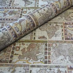 Decorative Italian Wrapping and Craft Paper Maps Tea Stained Paper, World Map Design, Wedding Gift Wrapping, Printable Scrapbook Paper, How To Age Paper, Rainbow Paper, Old Book Pages, Dog Crafts, Color Crafts