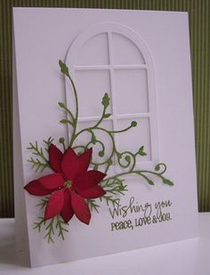 Stamping with Loll:  Frosted Holiday Window - dies and punches (my favorite Christmas card for 2012) - Nov. 2012)