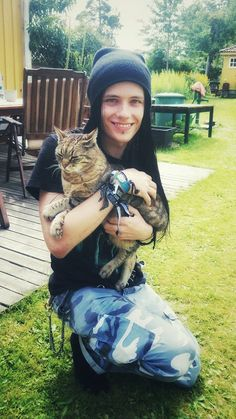 "Oskar Fahlen, Guitar Player for the Band ""Disregard"" from Sweden. Source Instragram."