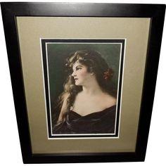 Zula Kenyon Vintage Print of Beautiful Dark Haired Lucille