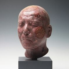 Takahiro Kondo: Red Head, 2011  Porcelain with with gold and silver mist over-glaze