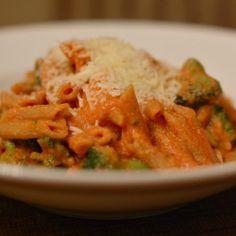 Tomato Ricotta Pasta with Broccoli