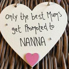 Only the Best Mums NANNA Cream Heart - Little Miss Scrabbled