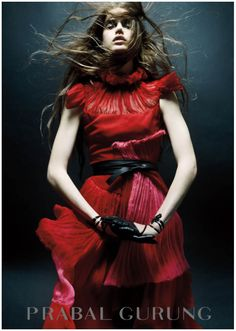 Julia Saner by Daniel Jackson for Prabal Gurung, Fall 2011 #campaign