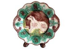 English Majolica Plate on OneKingsLane.com