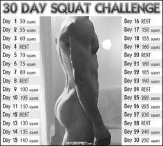 Squat challenge Monday