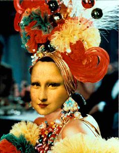 Mona Lisa As Carmen Miranda by Stars*Go*Blue, via Flickr