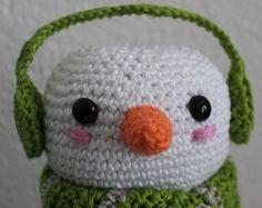 Patroon Dekselse Sneeuwman Ik kwam bij de IKEA marshmallows tegen in de vorm van sneeuwpopjes. Daar moet natuurlijk een Deksels potje...