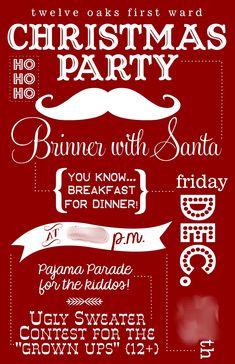 Christmas Pajama Party Invitation Ideas