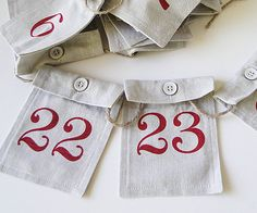 This is such a great idea for an   Advent Calendar! Make your own treats and surprises for your kids to count down to Christmas.