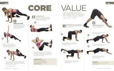 Core exercises that work your abs, back, inner thighs and glutes...all at the same time!