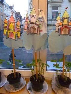 Visual Arts: around the Magic Bean Fairy Tale Activities, Science Activities, Activities For Kids, Fairy Tale Crafts, Fairy Tale Theme, Art For Kids, Crafts For Kids, Fairy Tales Unit, Traditional Tales