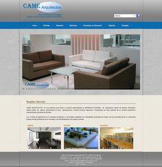 diseño web para CAME arquitectos, plataorma CMS, css3