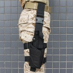 Used to hold handgun, pistol & revolver. Can be attached in the wrist belt and fasten to the leg. 1 x Pistol/Gun Drop Leg Thigh Holster. Quick release buckle and strap make this holster fully adjustable. Tactical Pouches, Tactical Pistol, Pistol Holster, Tactical Gear, Holsters, Leather Holster, Nylons, Drop Leg Holster, Leg Thigh