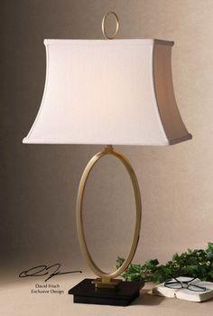 Uttermost oval brass lamp