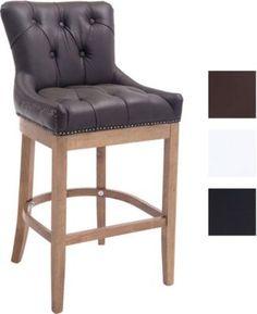 Holz Barhocker BUCKINGHAM Antik-hell, Echtlederbezug & dicke Polsterung, Rückenlehne & Fußstütze für Sitzkomfort, FARBWAHL Jetzt bestellen unter: https://moebel.ladendirekt.de/kueche-und-esszimmer/bar-moebel/barhocker/?uid=fcaf11b6-e88a-5737-91c6-2daa6636f419&utm_source=pinterest&utm_medium=pin&utm_campaign=boards #barhocker #kueche #stehtische #esszimmer #barmoebel