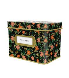 Midnight Garden Tin Recipe Box  gotta have this!