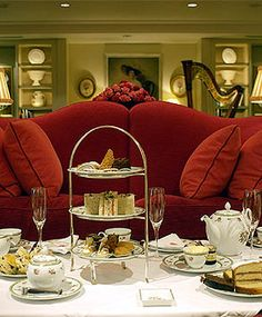 """Tea in London...'High'tea is a meal including meat and potatoes and desserts, it is not a soceity event as is referred to by many Americans...that would be """"Afternoon Tea"""" with scones, finger sandwiches jams and clotted cream."""