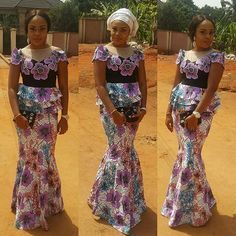 Check Out this lovely Skirt and Blouse Ankara Styles - DeZango Fashion Zone
