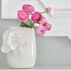 Cómo decorar floreros de cerámica