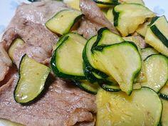Stir-fried zucchini with pork #Recipe