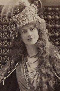 """The Rose of Persia,"" Ellen Beach Yaw as Sultana Zubedyah, 1899, original production."