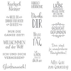 Erfreuliche Ereignisse Clear-Mount Stamp Set (German) by Stampin' Up!