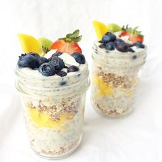 Chia Cocoyo Parfaits  Layered these jars with homemade cinnamon rawnola, vanilla coconut yogurt with chia, and fresh fruity goodness! Such a yummy lunch! Hope you all have a great weekend!   www.mindful-morsels.com  @mindfulmorsels #mindfulmorsels  #wfpb #plantbased #vegan #glutenfree #glutenfreevegan #veganfoodlovers #veganfoodshare #vegansofvancouver #cleaneating #cleaneats #letscookvegan #healthyfood #veganfoodspot #vegansofig #dairyfree #eggfree #veganparfait #alivemagazine…