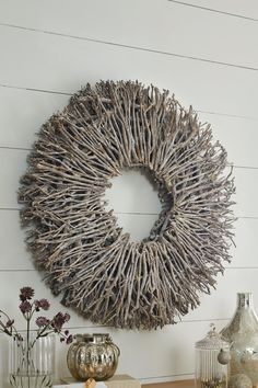 Awesome Nature Crafts for Kids Twig Crafts, Nature Crafts, Craft Stick Crafts, Crafts For Kids, Twig Christmas Tree, Christmas Wreaths, Christmas Crafts, Christmas Decorations, Stick Wreath