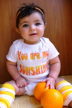 You Are My Sunshine Baby onesie with Sunny by My Next Milestone